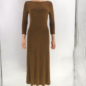 Coldwater creek modest dress brown size PXS